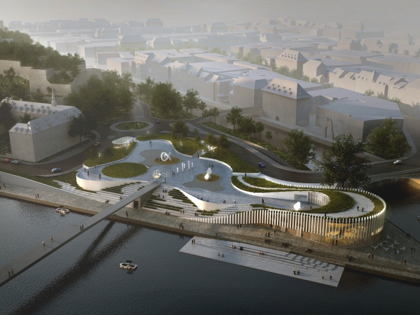 Confluence : esplanade et port numérique - © Duchene - Degraeve - Nonet