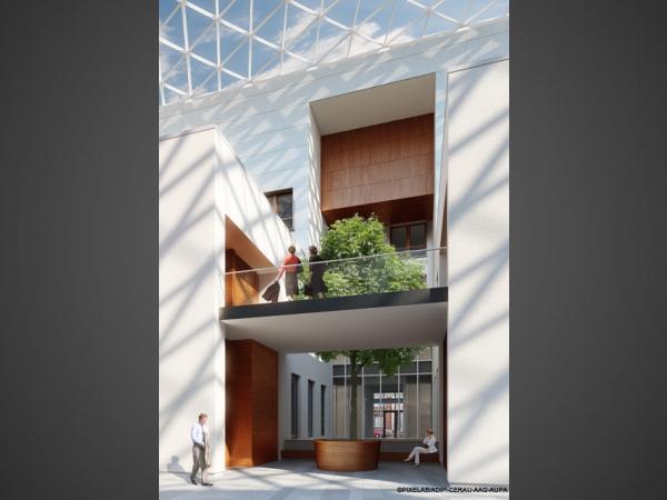 Futur Palais de Justice - Vue intérieure (Genval architecture)