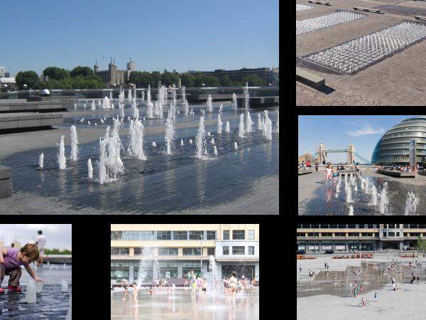 Exemples de fontaines sèches