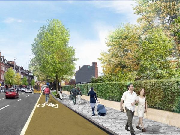 Avenue des Combattants - Situation projetée