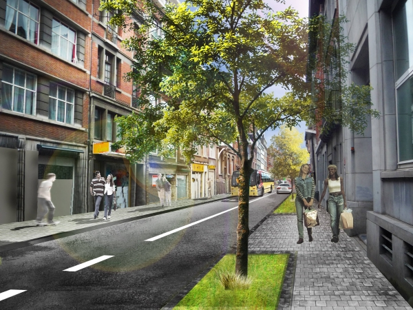 Rue Rogier - Situation projetée
