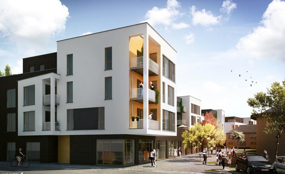 Une projection 3D du projet de logements