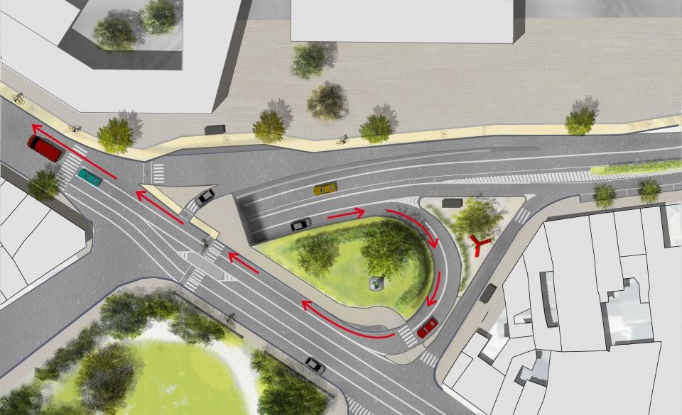 Aménagement du Square Omalius et report du trafic de transit