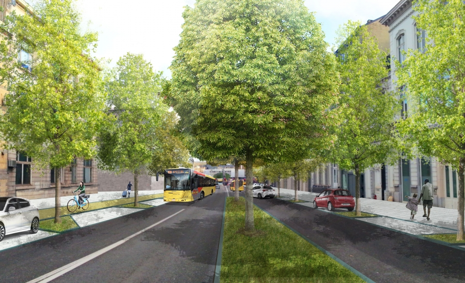 Boulevard Ernest Mélot - Situation projetée