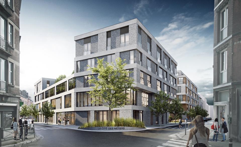 Espace Rogier - Projet 2 - La Cité des Métiers  - Copyright SA Coeur de Ville en partenariat avec Urban Platform architects & Thomas & Piron Bâtiment